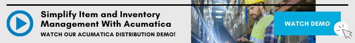 Acumatica Distribution Item Management