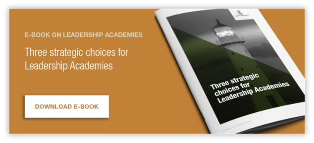 E-book on leardeship academies - three strategic choices