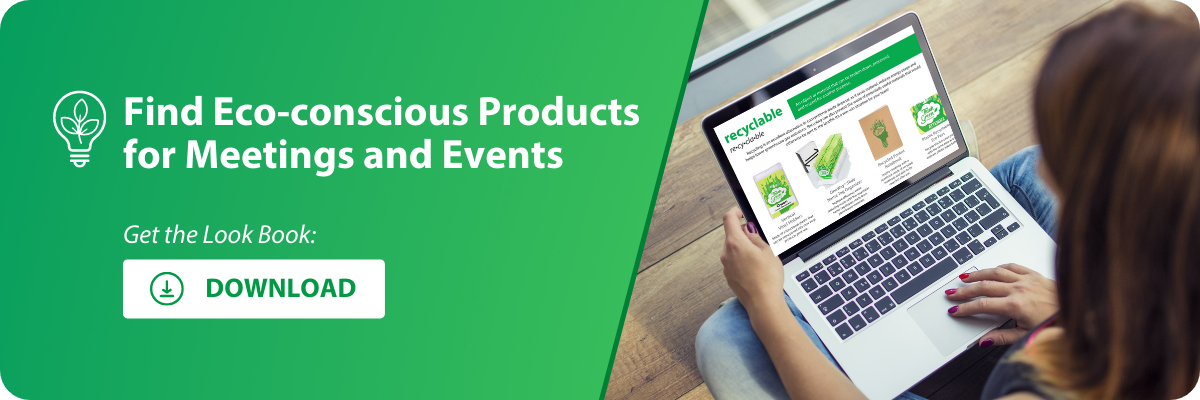 download the pc/nametag sustainable meetings product look book