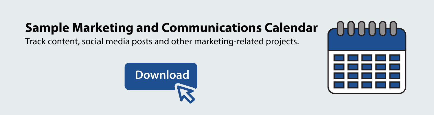 download a sample marketing and communications calendar