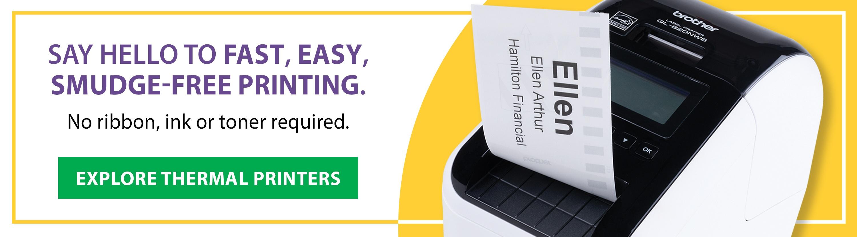 Explore pc/nametag's thermal label printers