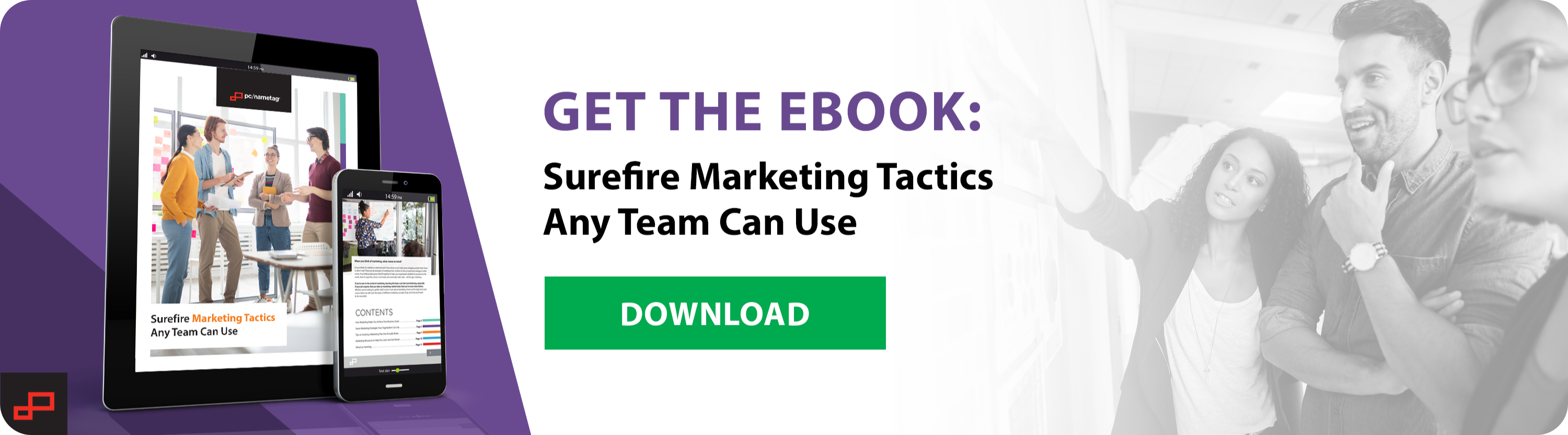download pc/nametag's ebook - Surefire Marketing Tactics Any Team Can Use