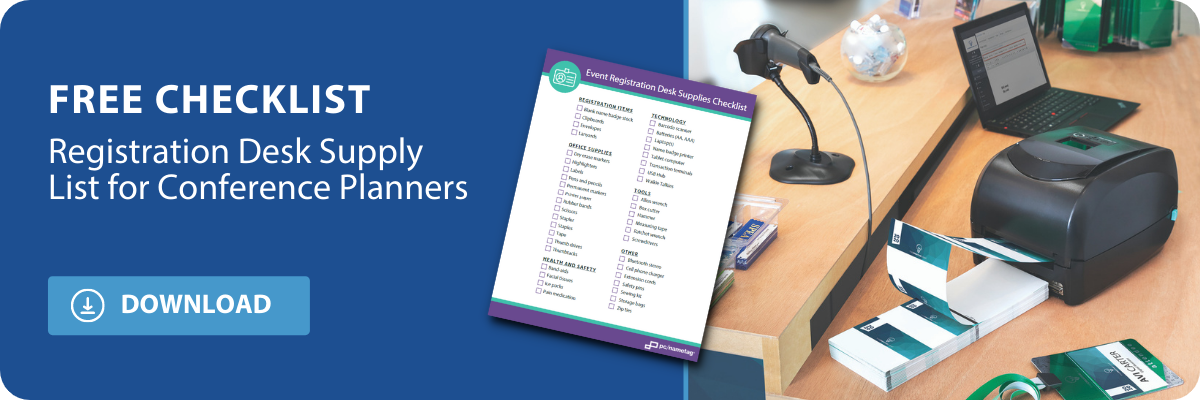 download the registration desk supply list for conference planners