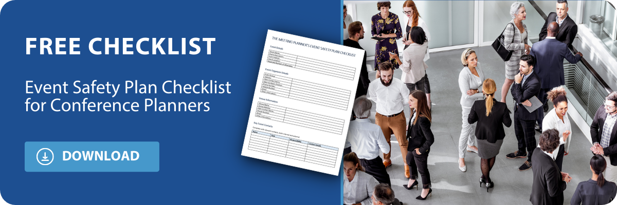 download the event safety plan checklist for conference planners