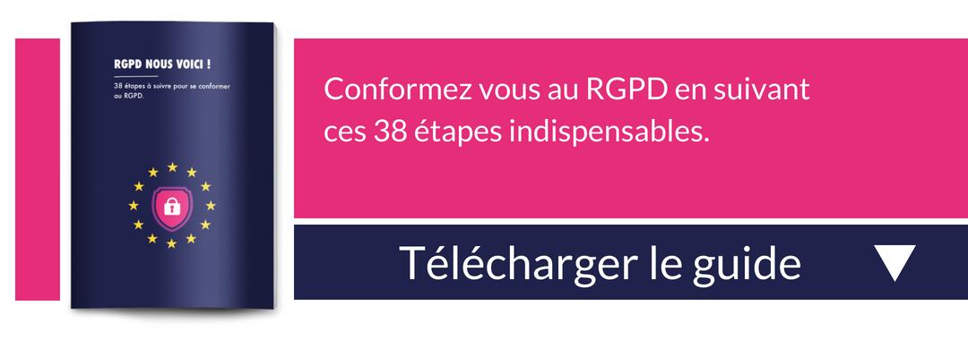 Téléchargement guide sur le RGPD