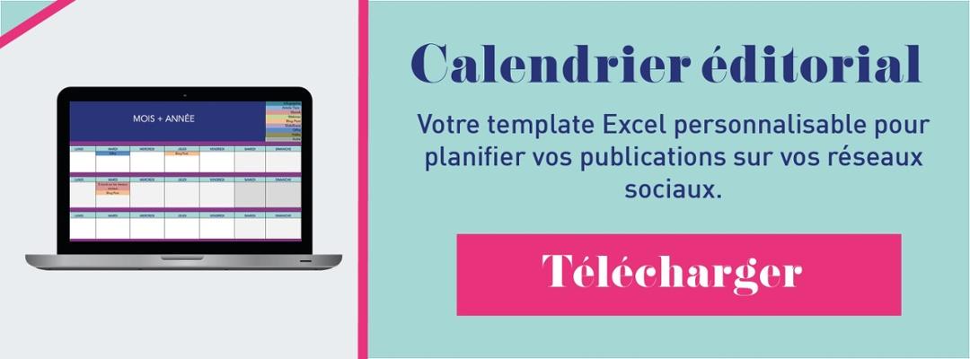 CTA calendrier éditorial