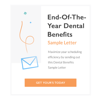 End of the year dental benefits sample letter