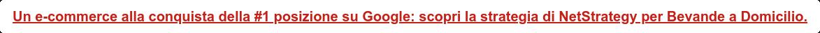 Un e-commerce alla conquista della #1 posizione su Google: scopri la strategia  di NetStrategy per Bevande a Domicilio.