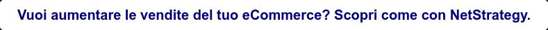Vuoi aumentare le vendite del tuo eCommerce? Scopri come con NetStrategy.