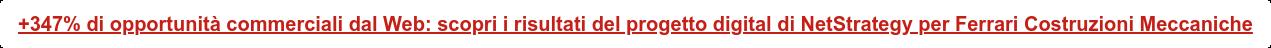 +347% di opportunità commerciali dal Web: scopri i risultati del progetto  digital di NetStrategy per Ferrari Costruzioni Meccaniche