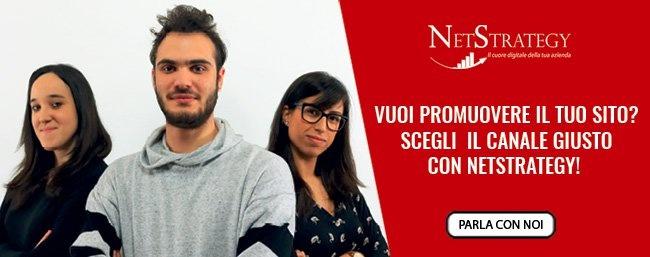 Vuoi promuovere il tuo sito? scegli il canale giusto con NetStrategy!