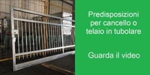 Predisposizioni per zincatura cancello o telaio in tubolare