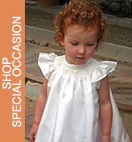 Silk Smocked Baby Bishop