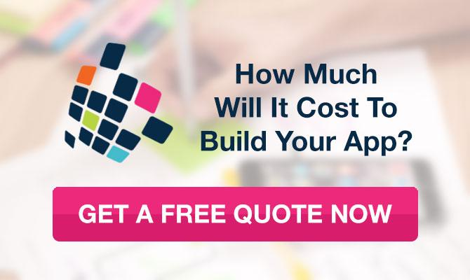 app cost free quote call to action button
