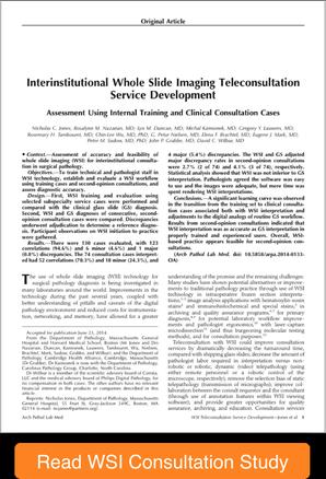 whole slide imaging  teleconsultation report
