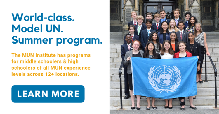 Click here to learn more about the MUN Institute!