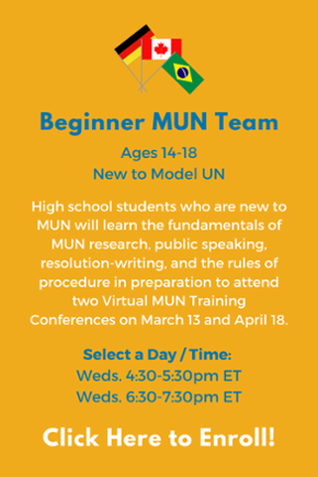Click here to learn more about the High School Beginner MUN Team!