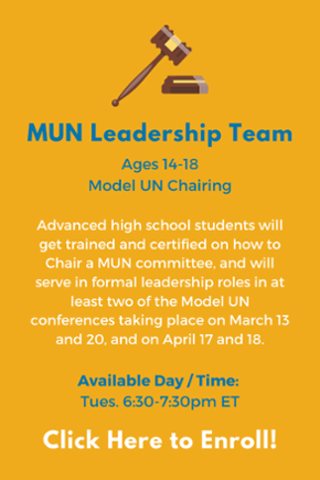 Click here to learn more about the High School Leadership MUN Team!