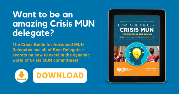 Click here to download our Guide to Crisis MUN!