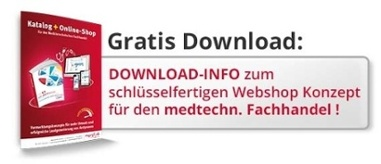 WebShop Konzept medizinischer Fachhandel