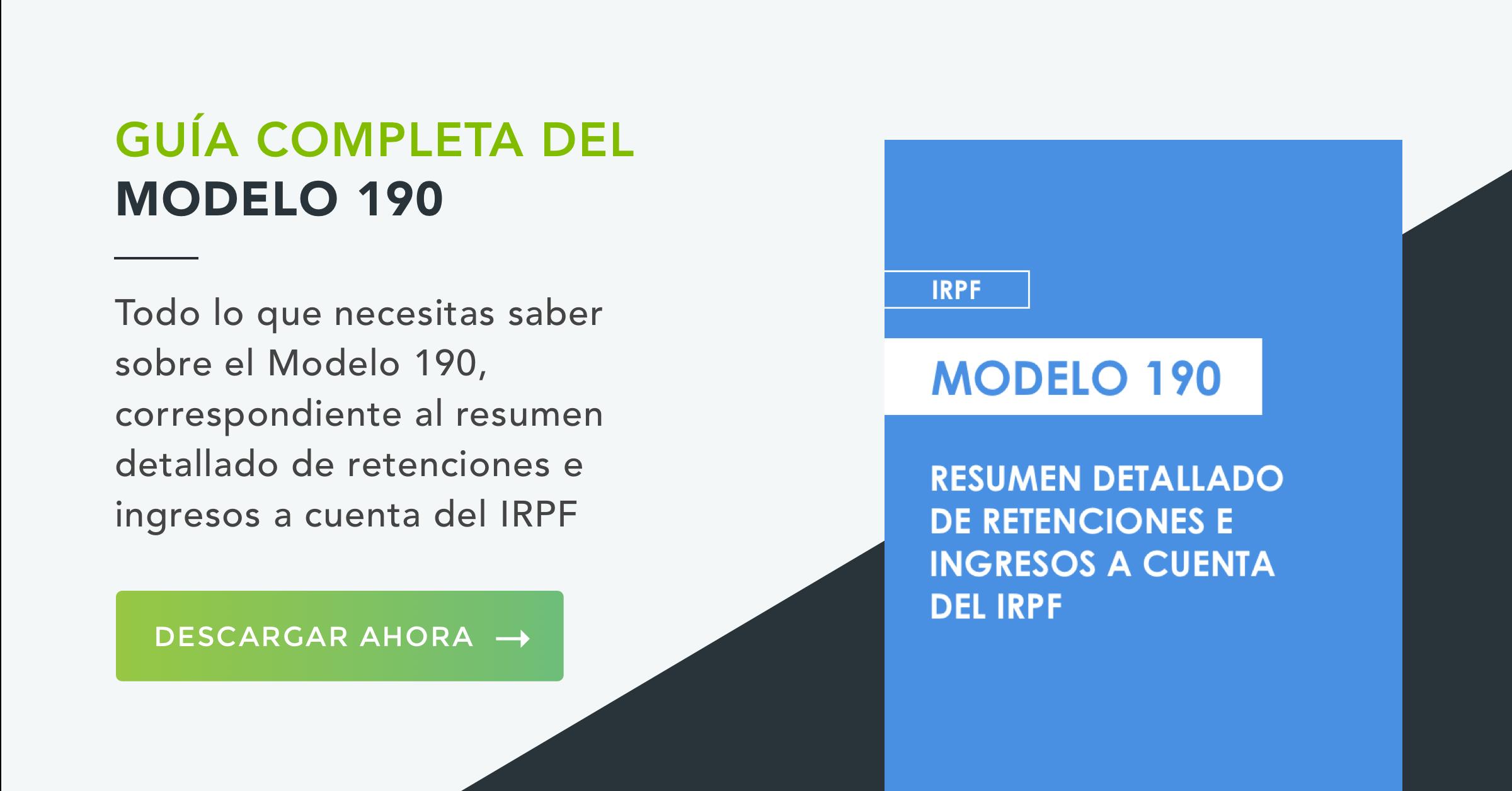 Modelo 190 IRPF