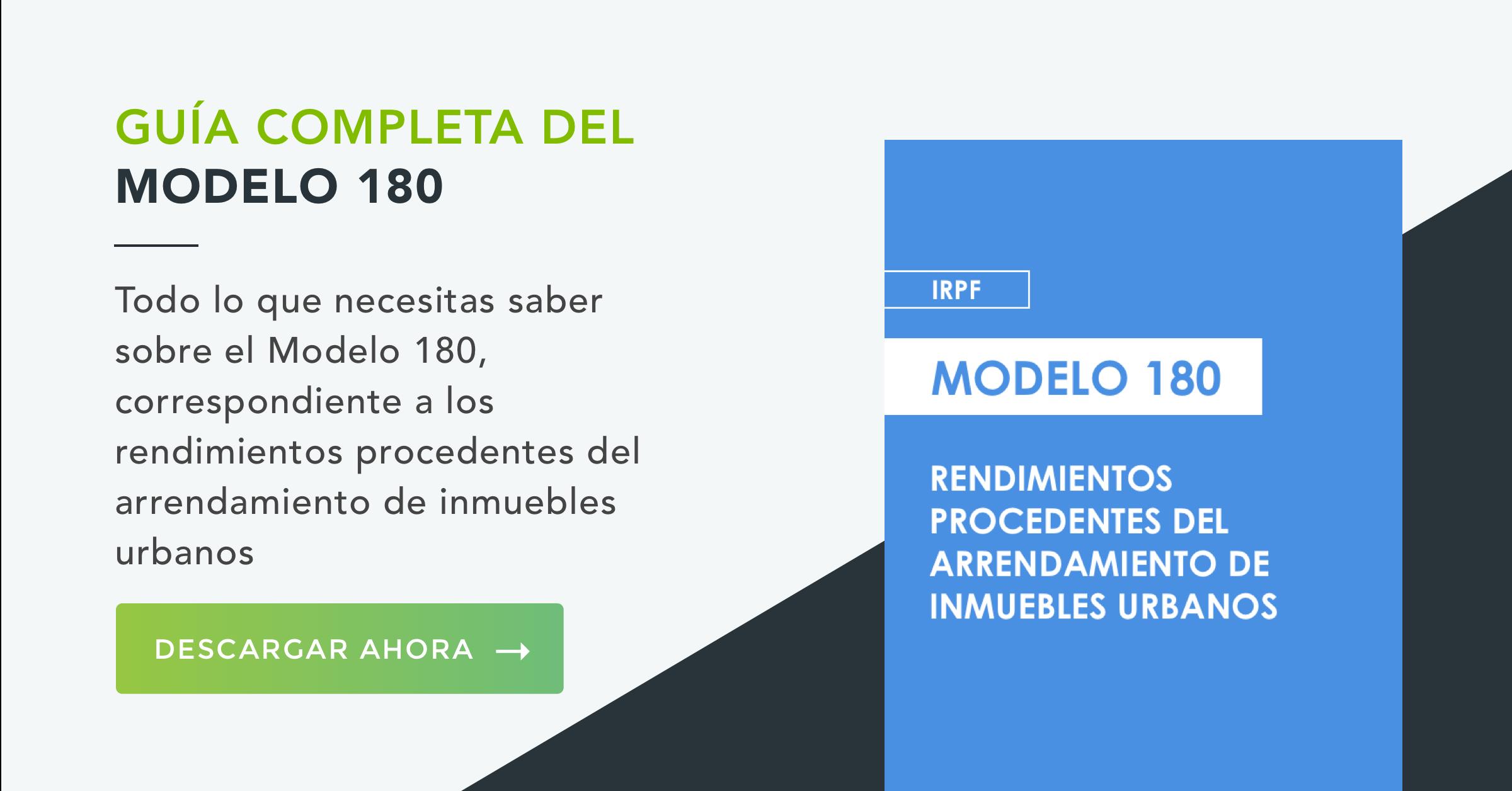Modelo 180 IRPF