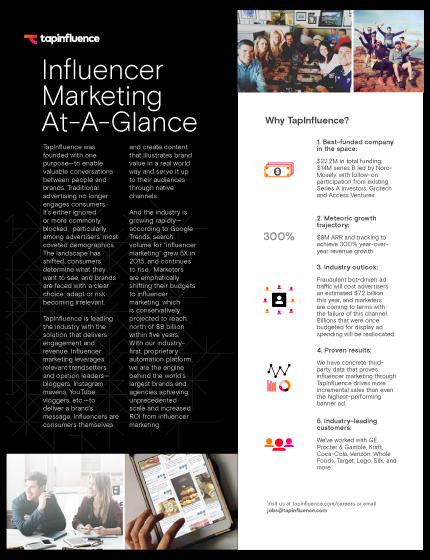 Influencer Marketing At-A-Glance