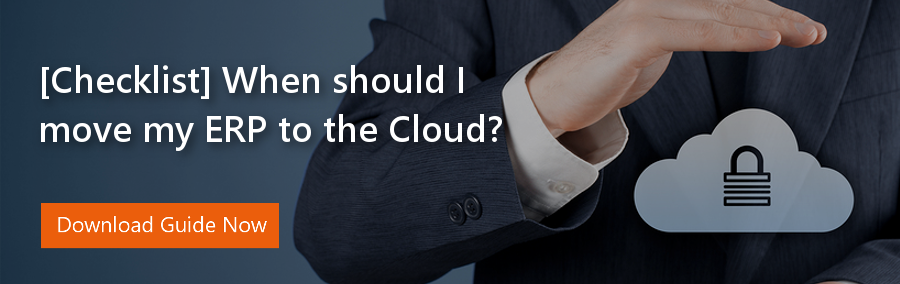 When should I move my ERP to the Cloud