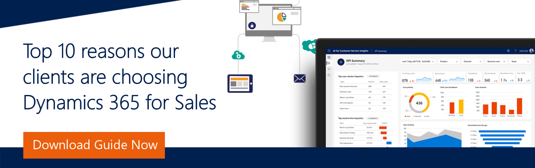 Ebook top 10 reasons our clients are choosing Dynamics 365 for Sales CRM