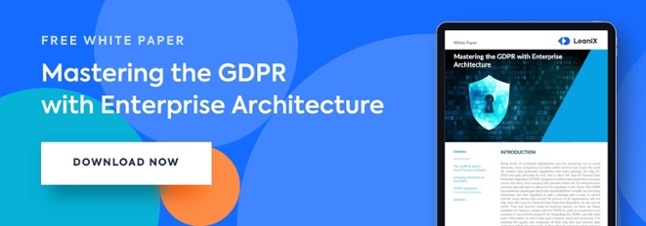 Mastering the GDPR with Enterprise Architecture