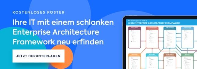 Kostenloses Poster - Ihre IT mit einem schlanken Enterprise Architecture Framework neu erfinden