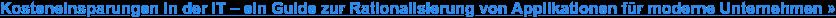 Der Beitrag der Anwendungsrationalisierung zum Geschäftserfolg – ein Leitfaden  [White Paper in EN]:Erfahren Sie alles, was Sie über Application Portfolio  Management (APM) wissen müssen, einschließlich bewährter Verfahren, wie Sie mit  APM beginnen können, sowie einen vollständigen Leitfaden zum Application  Portfolio Management.»