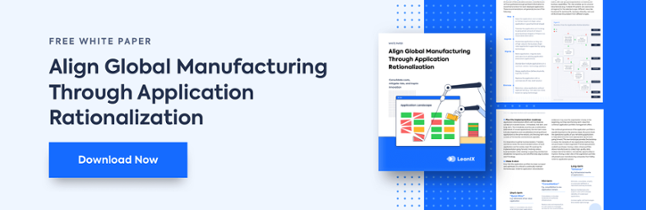 Align Global Manufacturing through Application Rationalization