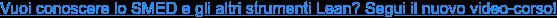 Vuoi conoscere lo SMED e gli altri strumenti Lean? Segui il nuovo video-corso!