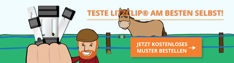 Litzclip Weidezaunverbinder kostenloses Muster bestellen