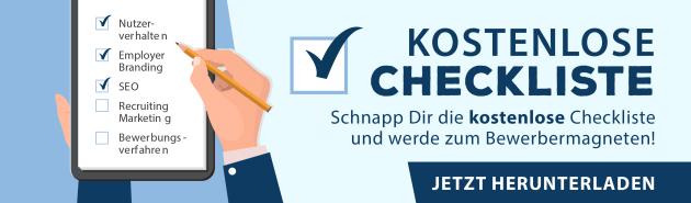 Jetzt kostenlos herunterladen: Checkliste für die optimale Karriereseite