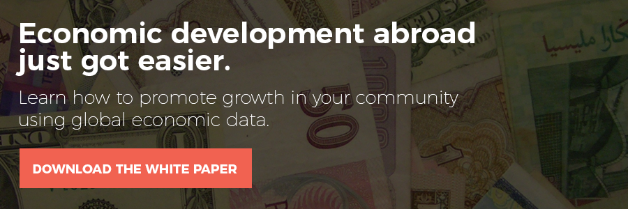 Download the white paper to learn how to promote growth in your community using global economic data.