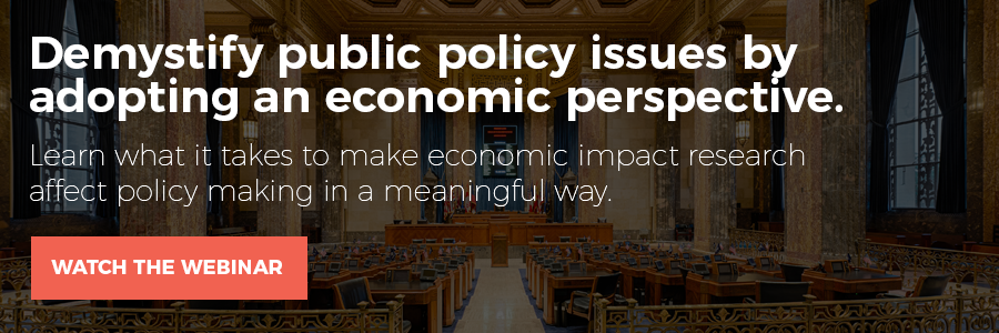 Learn what it takes to make economic impact research affect policy making in a meaningful way.