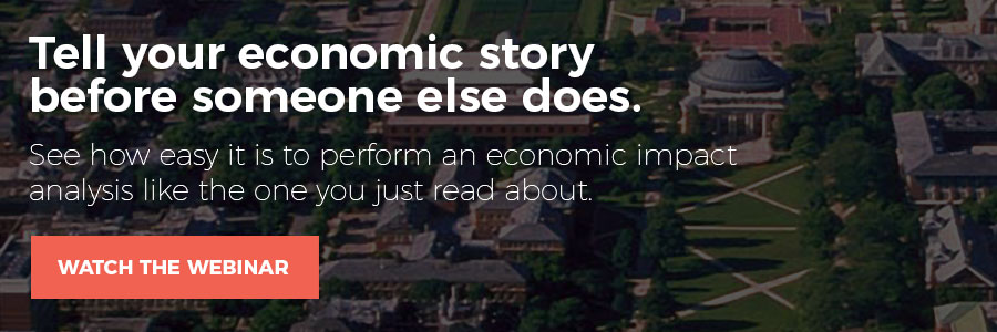 Tell your economic storybefore someone else does. See how easy it is to perform an economic impact  analysis like the one you just read about.