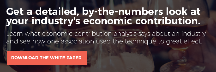 Get a detailed, by-the-numbers look at your industry's economic contribution.