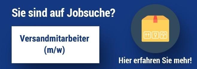 Jobangebot Versandmitarbeiter