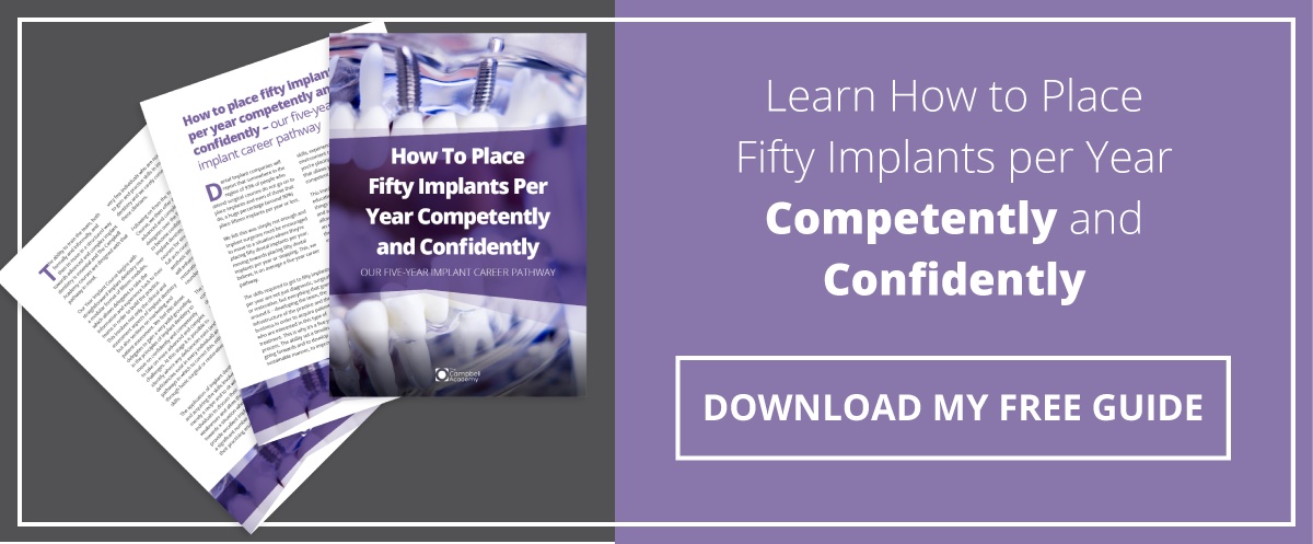 How to Place Fifty Implants per Year Competently and Confidently