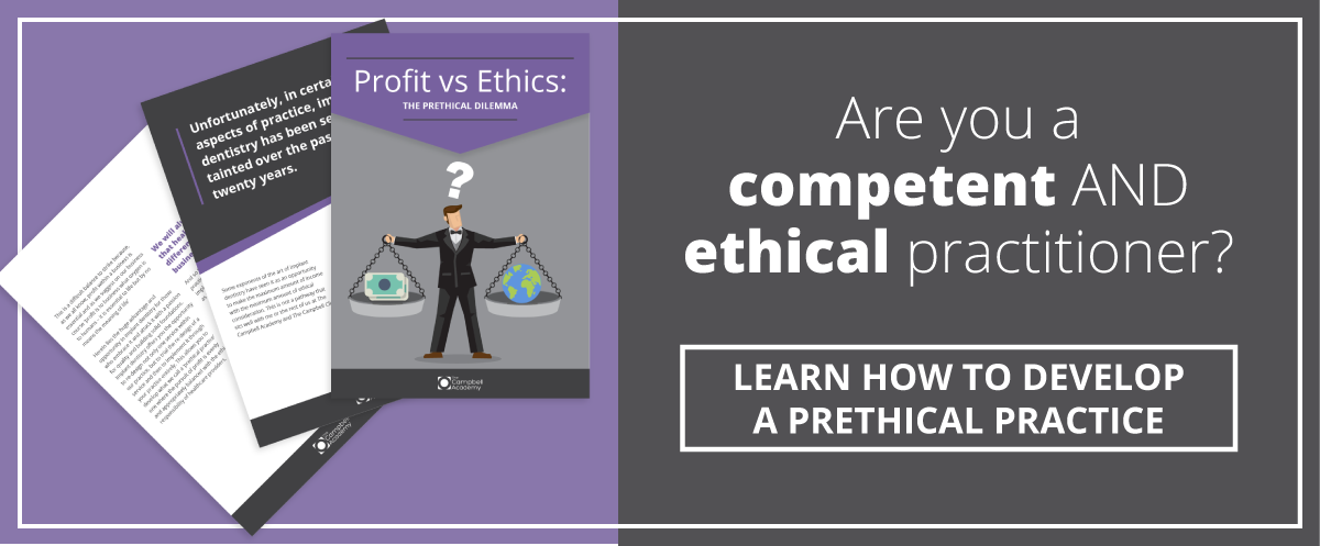 Profit vs Etics Dental practitioner
