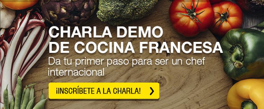 ¡Inscríbete ahora! Charla demo de cocina francesa