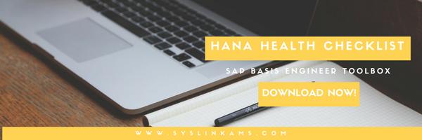Download SAP HANA monitoring checklist NOW!