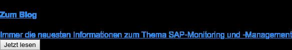 Zum Blog  Immer die neuesten Informationen zum Thema SAP-Monitoring und -Management Jetzt lesen