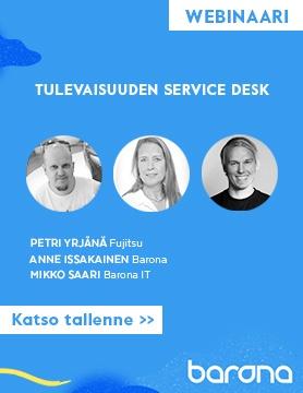 Lataa tästä webinaaritallenne: Tulevaisuuden Service Desk