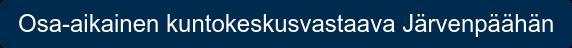 Osa-aikainen kuntokeskusvastaava Järvenpäähän