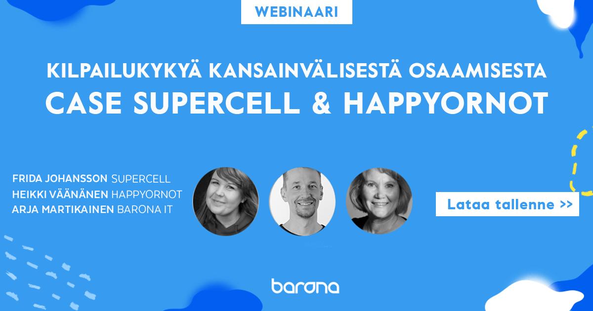 Webinaari 19. 3. 2019: kilpailukykyä kansainvälisestä osaamisesta – case supercell & happyornot