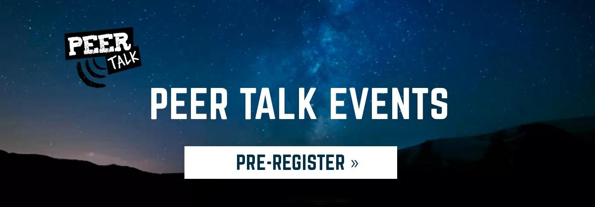 Varmista paikkasi tuleviin Peer Talk -tapahtumiin